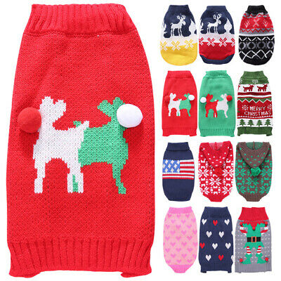 Winter Warm Puppy Coat Jacket Apparel Small Cat Dog Pet Clothes Sweater Knitted