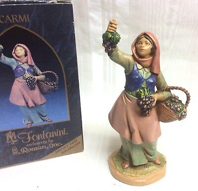 "Fontanini Nativity Figure CARMI, Orig. Box, 5"", Depose Italy,Villager,Vineyard"
