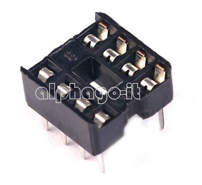 100PCS 8pin DIP IC Socket Adaptor Solder Type Socket Pitch Dual Wipe Contact NEW