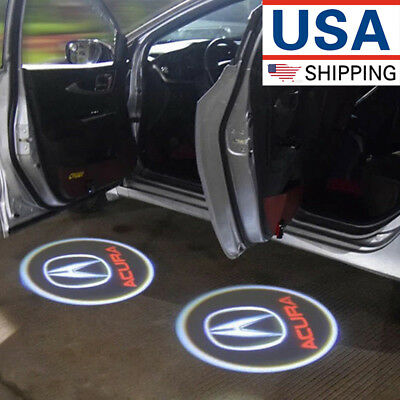 2×Ghost Shadow LED Projector Lights Door Logo Laser for Acura TLX RLX MDX TL ZDX