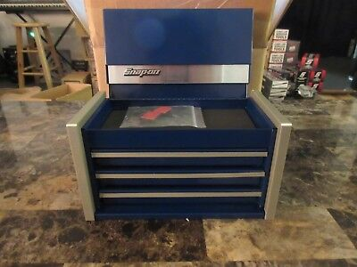 Snap On Blue Mini Micro Top Chest Tool Box Brand New Rare