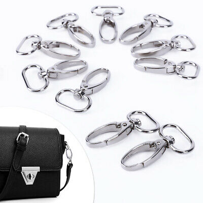 10pcs Bag Clasps Lobster Swivel Trigger Clips for 20 or 25mm Strapping Pick Size