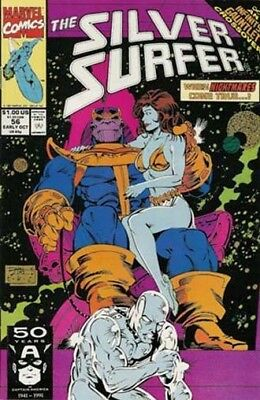 Silver Surfer #56 Infinity Gauntlet x-over, Thanos, Marvel Comics V3 1987 series
