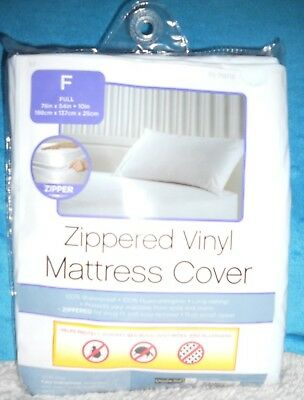 New Grayden Mattress Cover-Waterproof-Vinyl-Bed Bugs-Dust Mites-Zippered-Twin