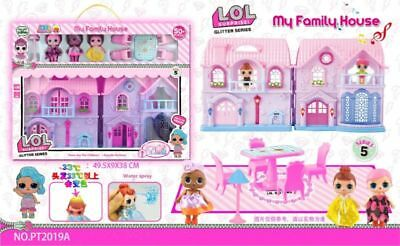 LOL Surprise Doll My Family House Game music Hot Playset  Kids Girls Toy Gifts