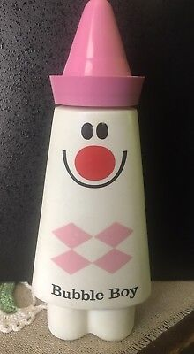 Vintage **rare** Bubble Boy  Soap Plastic  Bottle Early 1970's
