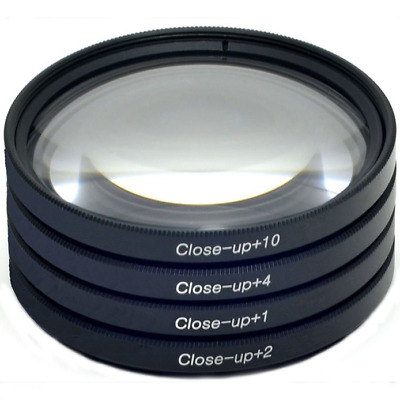 77mm Macro Close-Up Lens Filter Set +1 +2 +4 +10 comes with Case HD Deco Gear
