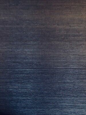 Magnolia Home Wallpaper Grasscloth Navy Blue Natural VG4405MH SAMPLE FREE SHIP