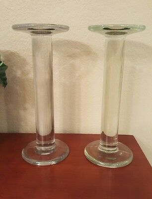 2 Vintage SPOOLS Glass Shelf Risers, MATCHED PAIR! ~ Soda Fountain ~ Rare, HTF!