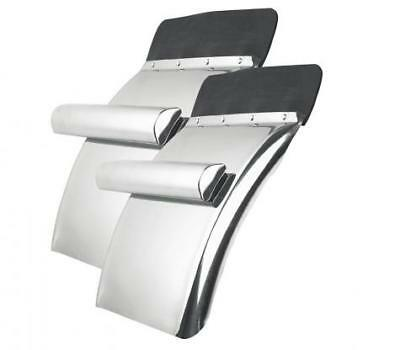 """Deluxe 24"""" x 24"""" Stainless Steel Quarter Fender Set with Triangle  support tube"""