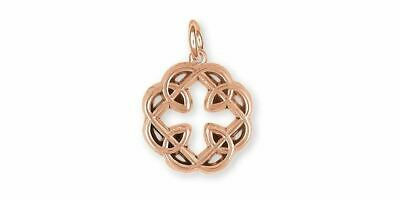 Celtic Father And Daughter Jewelry 14k Rose Gold Handmade Celtic Father And Daug