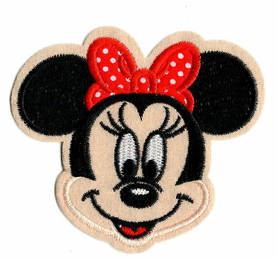 MINNIE MOUSE Iron on / Sew on Patch Embroidered Badge Cartoon TV PT36