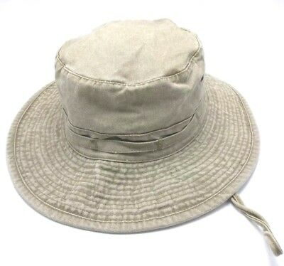 DORFMAN PACIFIC HEADWEAR Bucket Hat Cotton Summer Size Large Army ... 5179a6be26e3
