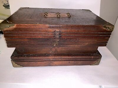 American Wood & brass Copper local election ballot box Mail Bank