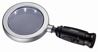 "TENG TOOLS 587H | 4"" Magnifying Glass With 14 LED Light Ring - Hand Held"