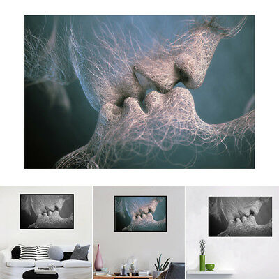Fashion Love Kiss Abstract Art Canvas Painting Wall Art Picture Print Home Decor