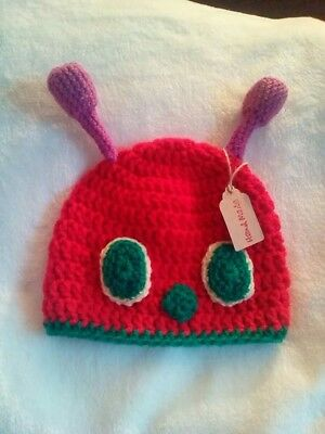 the very hungry caterpillar inspired crochet hat 3-5 years