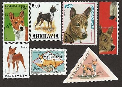 BASENJI ** Int'l Dog Postage Stamp Collection ** Great Gift Idea **