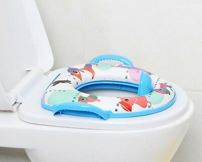 NEW Childrens Kids Padded Soft Toilet Training Seat With Handles Baby Toddler