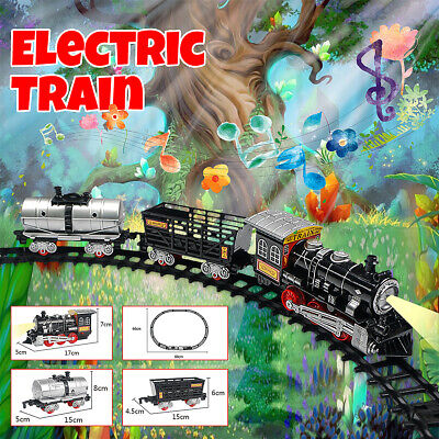 Christmas Classic Toy Electric Train RC Flashing lights Sounds Battery Operated