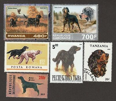 GORDON SETTER ** Int'l Dog Stamp Collection** Great Gift Idea**