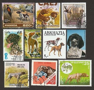 GERMAN SHORTHAIRED POINTER ** Int'l Dog Stamp Collection ** Great Gift Idea **