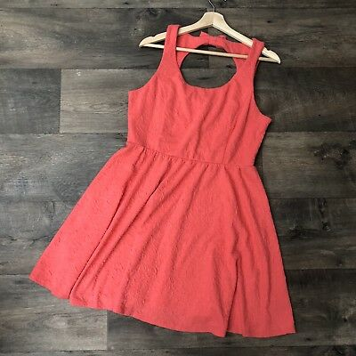 b8ba40cc06b NWT LAUREN CONRAD On Deck Pink Fit And Flare Dress Keyhole Back Size Large
