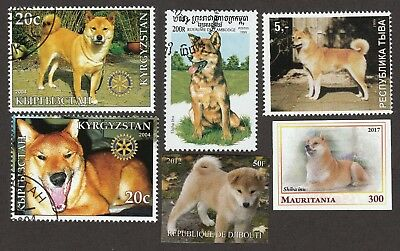SHIBA INU ** Int'l Dog Stamp Collection ** Great Gift Idea**