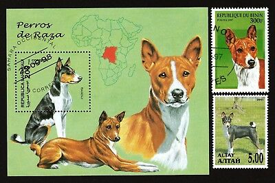 BASENJI ** Int'l Dog Postage Stamp Collection ** Great Gift Idea**