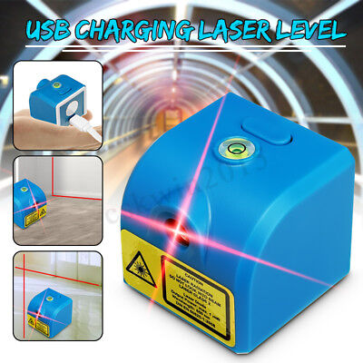 Portable USB Charging 650NM Red Cross Laser Infrared Module Outdoor Level Tool