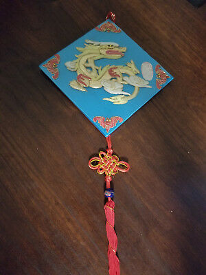 Beautiful Vintage Chinese Dragon Hanging Wall Ornament Decoration