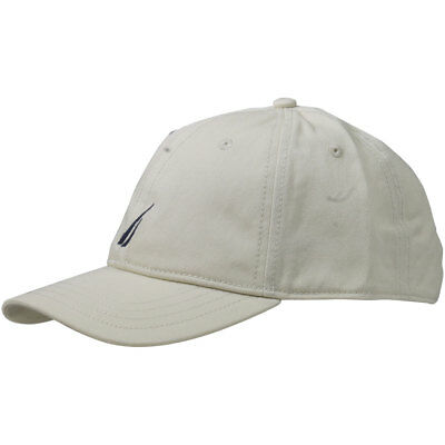 87eb2586b0a Nautica Anchor J-Class Oat Cotton Cap Baseball Hat (One Size Fits Most)
