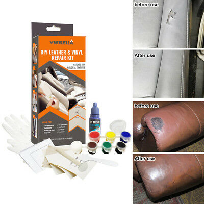 DIY LEATHER REPAIR Kit Vinyl Filler Compound Color Restorer ...