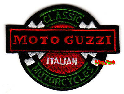 MOTO GUZZI MOTORCYCLE PATCH EMBROIDERED IRON ON vintage retro cafe racer racing