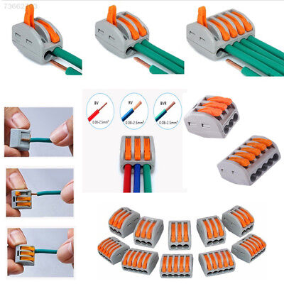 70DF Universal Reusable Spring Terminal Block Wire Electronic Cable Cord Connect