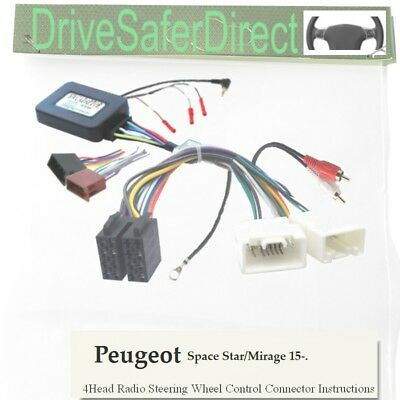 SWC-5093-08J Stalk Control,ISO-JOIN splicer for Chinese Radio/Peugeot 4008 14-