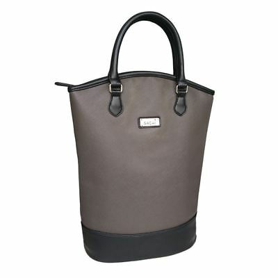 Sachi - Two Bottle Wine Insulated Tote Charcoal