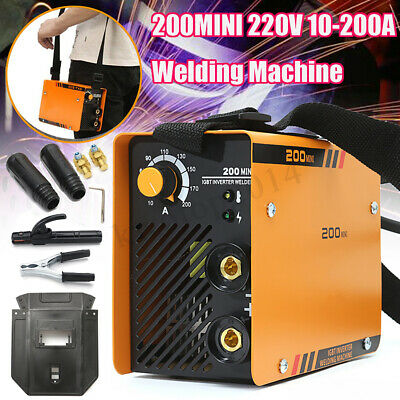 220V ZX7-200 Portable MMA ARC Welder Welding Machine Soldering Inverter W/ Mask