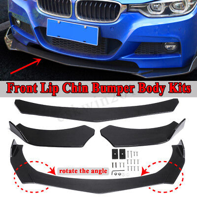 Carbon Fiber Look Front Bumper Lip Body Kit Spoiler For BMW E46 E90 E91 E92 E93