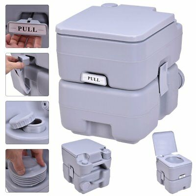 5Gallon 20L Portable Toilet Flush Travel Camping Outdoor/Indoor Potty Commode EK