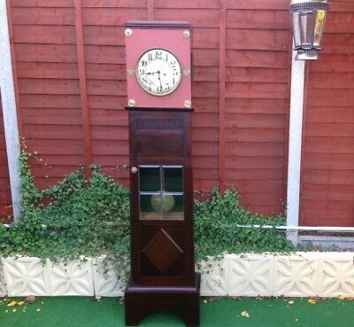 Vintage Wood Book Cabinet and Grandfather Clock or Drinks Cabinet