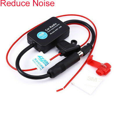 Fit 12V Car Automobile Radio Signal Amplifier Auto FM/AM Antenna Booster for RV
