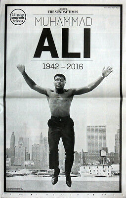 The Sunday Times Newspaper Muhammad Ali Dead Tribute Supplement 5 June 2016