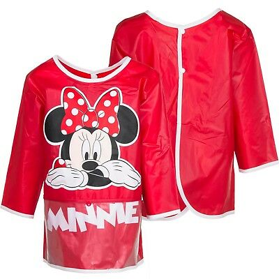 Childrens Kids Girls Official Disney Minnie Mouse Pvc Painting Cooking Apron