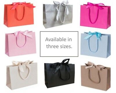 Baby Shower / Wedding / Birthday Party / Christmas / Ribbon Tie Bow Gift Bags