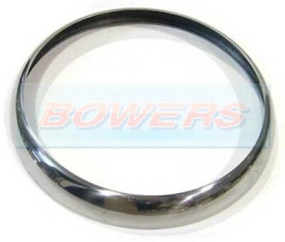 "Push On Snap On Chrome Trim Rim Ring Bezel 7"" Headlight Headlamp Mbg Gt Lotus"