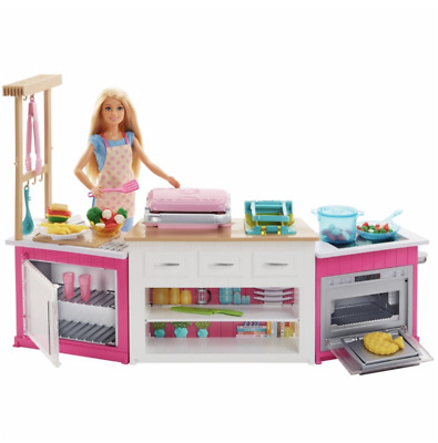 Barbie Ultimate Kitchen Set Playset with Doll - Xmas Christmas toy Gift Present