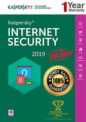 KASPERSKY Internet Security 2018 1 PC/Utente/1 ANNO/Antivirus/Download.