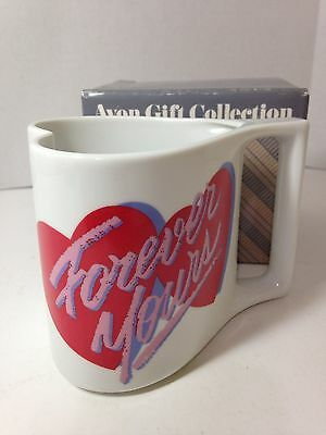 Avon Here's My Heart Mug - Forever Yours w/Double Hearts - NOS