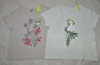 167fcec14 Crazy 8 Lot of two Sparkle Jungle & Cockatoo Tops Tees Girl's Sz. XL 14